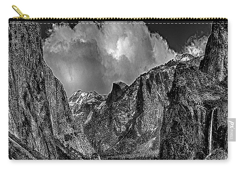 Yosemite National Park Carry-all Pouch featuring the photograph Yosemite Valley From Tunnel by Bob and Nadine Johnston