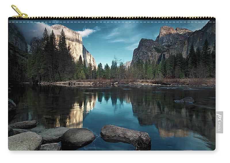 Scenics Carry-all Pouch featuring the photograph Yosemite Valley by Joe Ganster