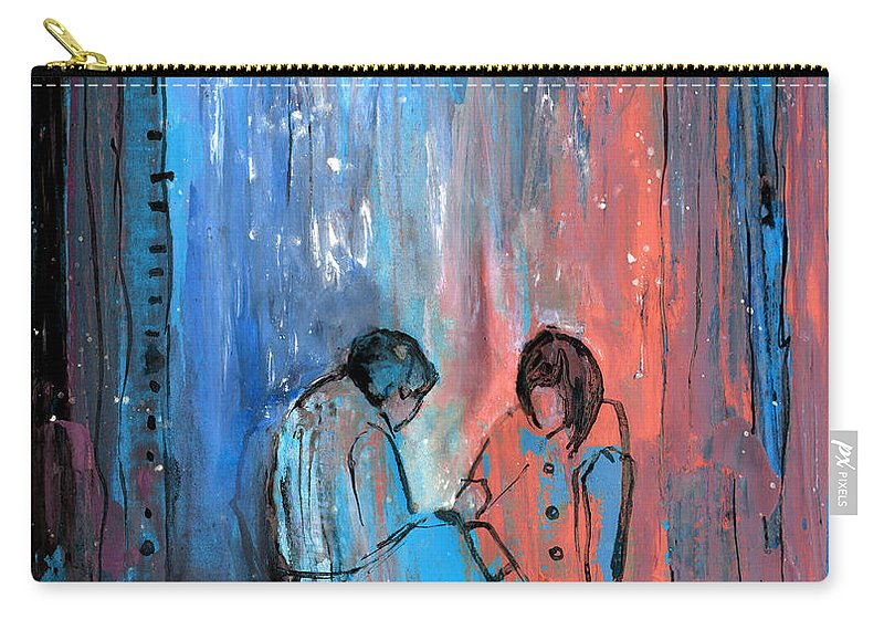 People Carry-all Pouch featuring the painting You And Me by Miki De Goodaboom