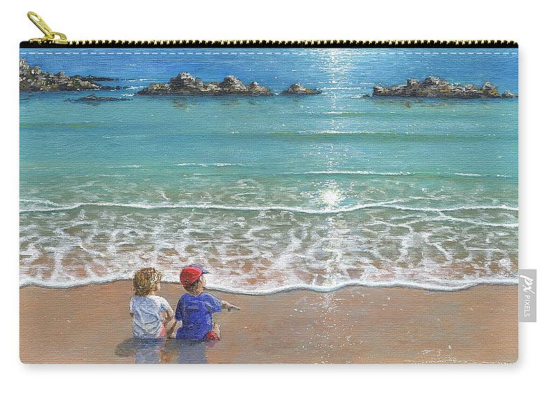 Landscape Carry-all Pouch featuring the painting You And Me by Richard Harpum