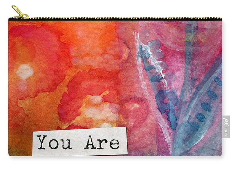 You Are In My Prayers Carry-all Pouch featuring the painting You Are In My Prayers- Watercolor Art Card by Linda Woods