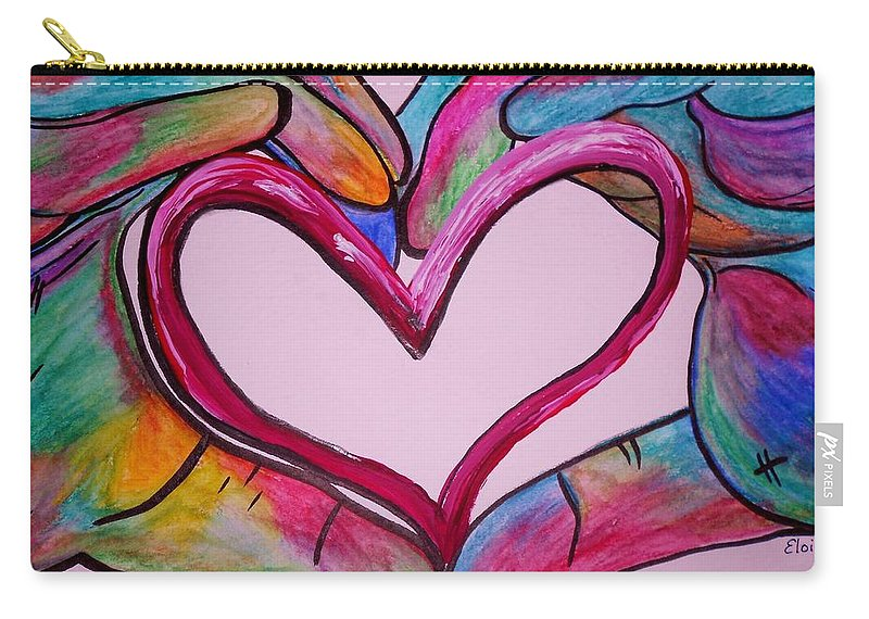Hand Carry-all Pouch featuring the painting You Hold My Heart In Your Hands by Eloise Schneider Mote