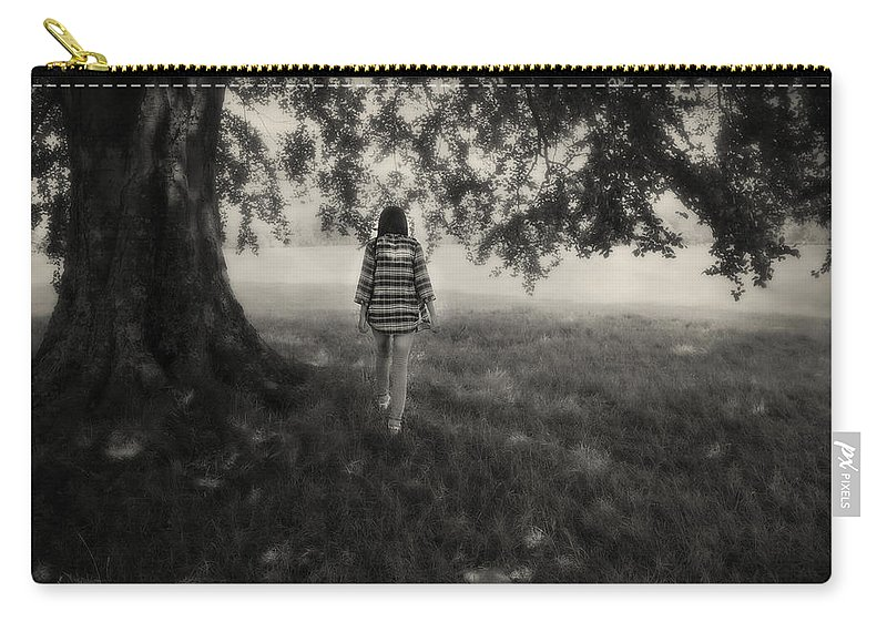People Carry-all Pouch featuring the photograph You Lead I'll Follow by Christopher Rees