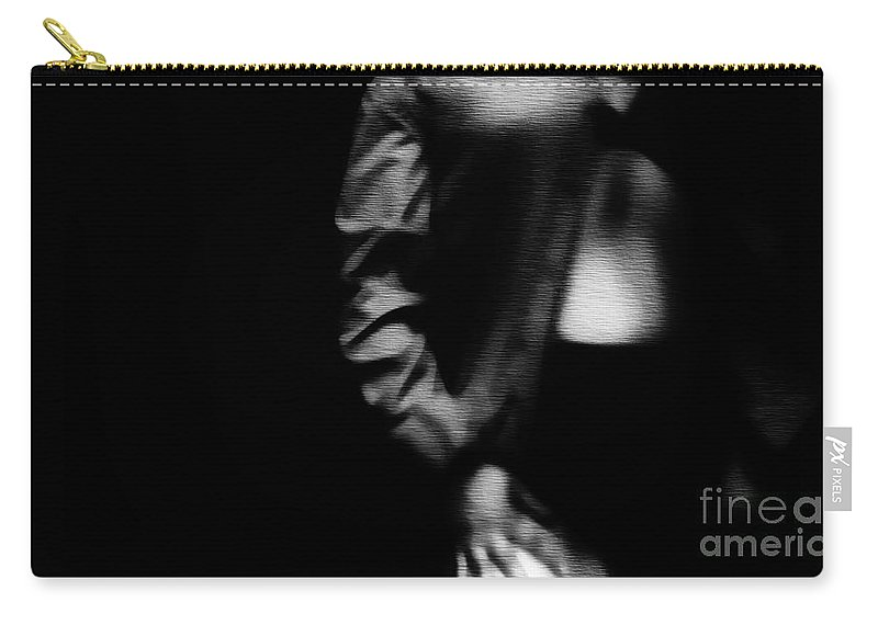Black Carry-all Pouch featuring the photograph You Tempt Me by Jessica Shelton