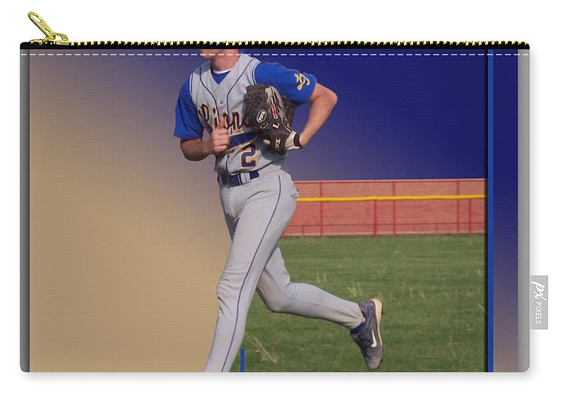 Sports Carry-all Pouch featuring the photograph Young Baseball Athlete by Thomas Woolworth