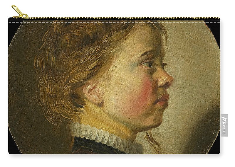 Judith Leyster Carry-all Pouch featuring the painting Young Boy In Profile by Judith Leyster