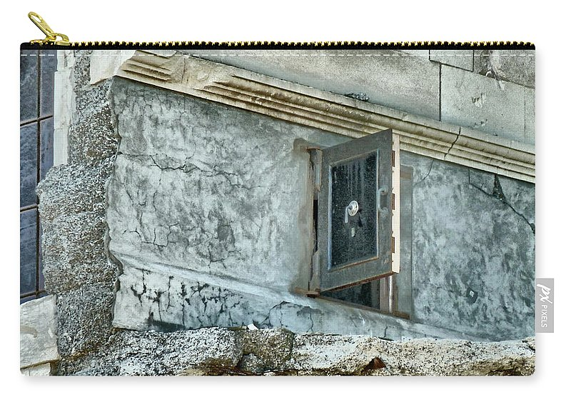 Safe Carry-all Pouch featuring the photograph You're Only Supposed To Blow The Bloody Doors Off by Steve Taylor