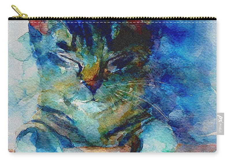Cat Carry-all Pouch featuring the painting You've Got A Friend by Paul Lovering