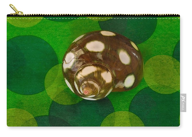 Shell Carry-all Pouch featuring the photograph You've Spotted Me by Chrystyne Novack