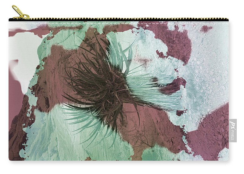 Abstract Carry-all Pouch featuring the photograph Yucca Abstract Sage And Mauve by Alan Socolik