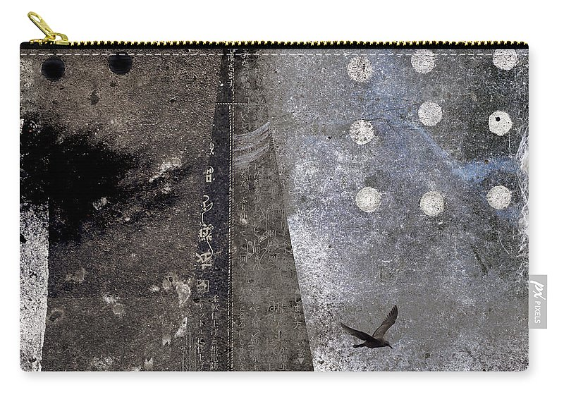 Yuki Carry-all Pouch featuring the photograph Yuki Desu It Is Snowing by Carol Leigh