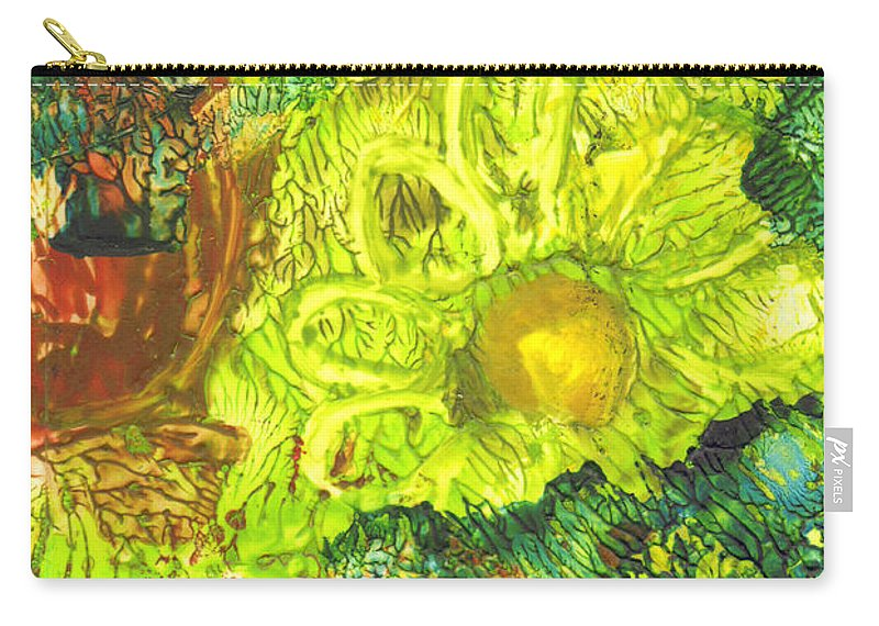 Flower Carry-all Pouch featuring the painting Yupo Flower2 by Phyllis Brady
