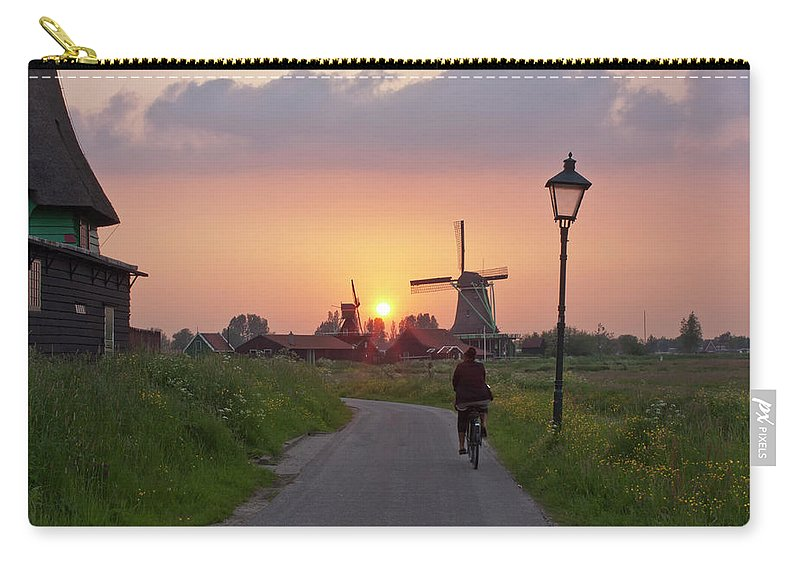 North Holland Carry-all Pouch featuring the photograph Zaanse Schans Windmills by Ivan