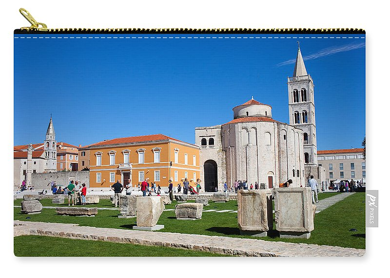 Church Carry-all Pouch featuring the photograph Zadar Historic Architecture by Artur Bogacki