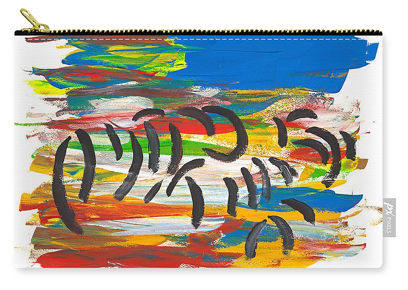 Contemporary Carry-all Pouch featuring the painting Zafari by Bjorn Sjogren