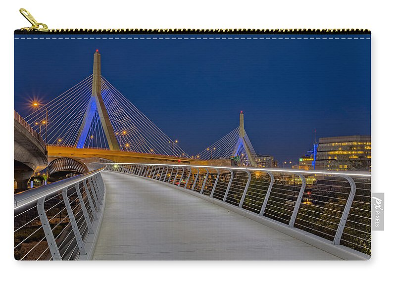 Zakim Carry-all Pouch featuring the photograph Zakim Bridge by Susan Candelario