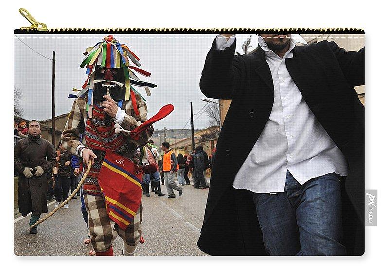 Spain Carry-all Pouch featuring the photograph Zangarron Mascarade 4 by Rafa Rivas