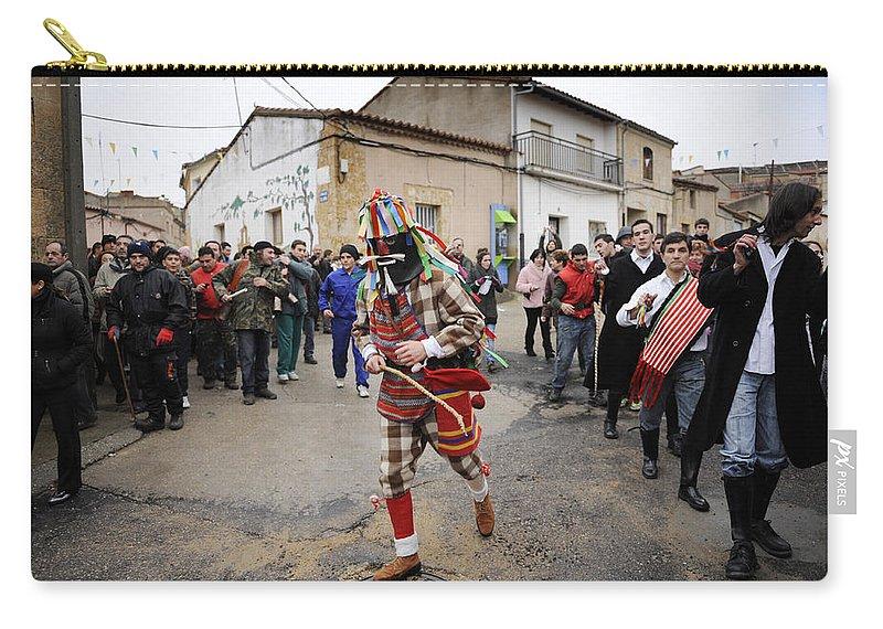 Spain Carry-all Pouch featuring the photograph Zangarron Mascarade 5 by Rafa Rivas