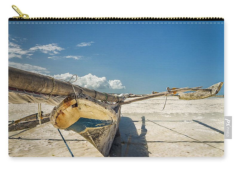 3scape Carry-all Pouch featuring the photograph Zanzibar Outrigger by Adam Romanowicz