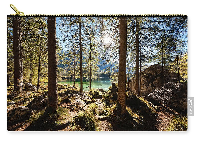 Tranquility Carry-all Pouch featuring the photograph Zauberwald In Autumn by Jorg Greuel
