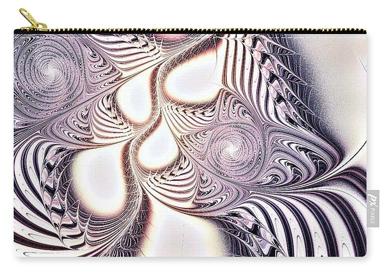 Malakhova Carry-all Pouch featuring the digital art Zebra Phantasm by Anastasiya Malakhova