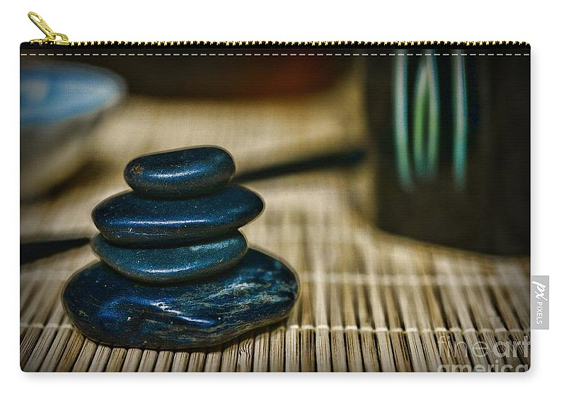 Paul Ward Carry-all Pouch featuring the photograph Zen Balance Is Key by Paul Ward