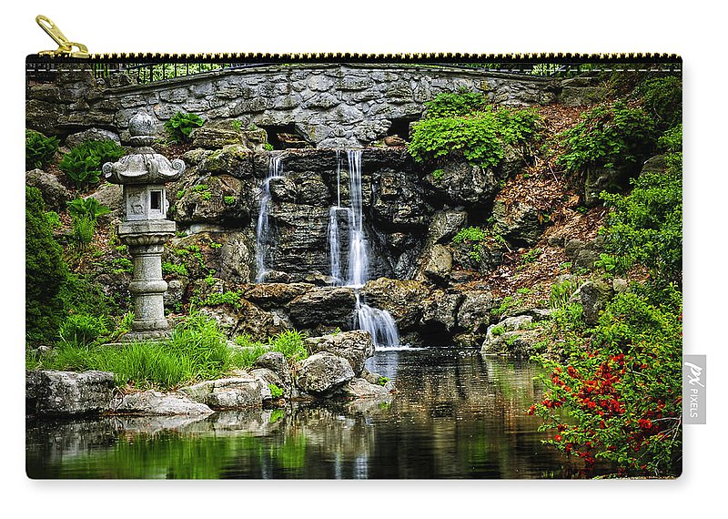 Waterfall Carry-all Pouch featuring the photograph Zen Garden by Elena Elisseeva