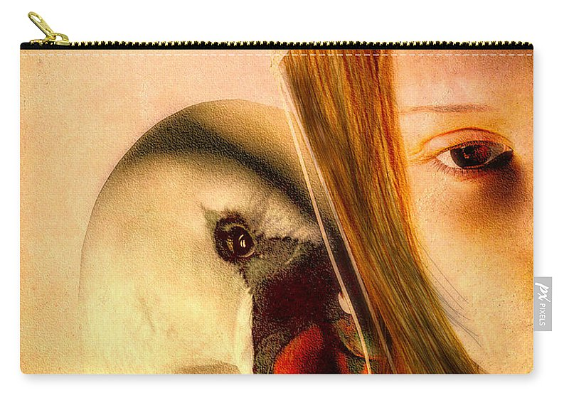 Zeus Carry-all Pouch featuring the digital art Zeus And Leda by Bob Orsillo