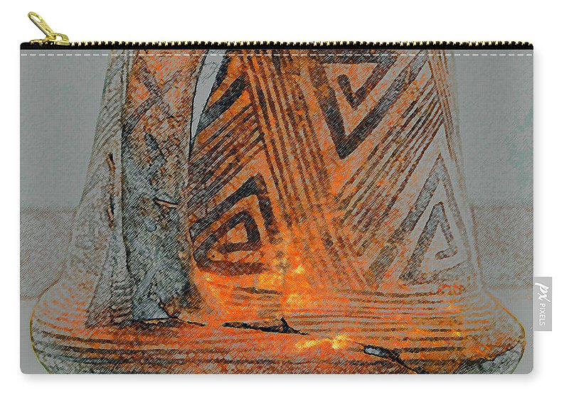 Anasazi Carry-all Pouch featuring the painting Zigzag Mug With Handle by David Lee Thompson