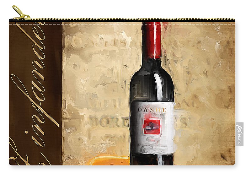 Wine Carry-all Pouch featuring the painting Zinfandel IIi by Lourry Legarde