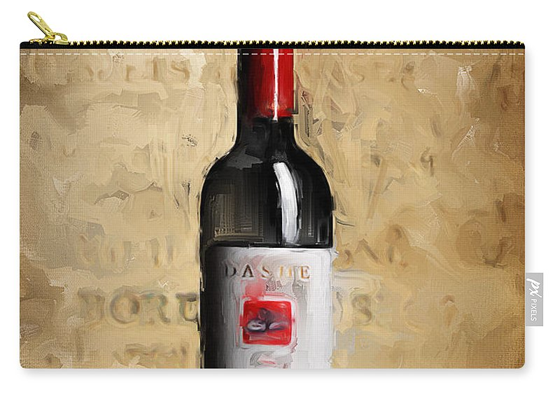 Wine Carry-all Pouch featuring the painting Zinfandel Iv by Lourry Legarde