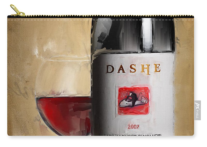 Wine Carry-all Pouch featuring the painting Zinfandel V by Lourry Legarde
