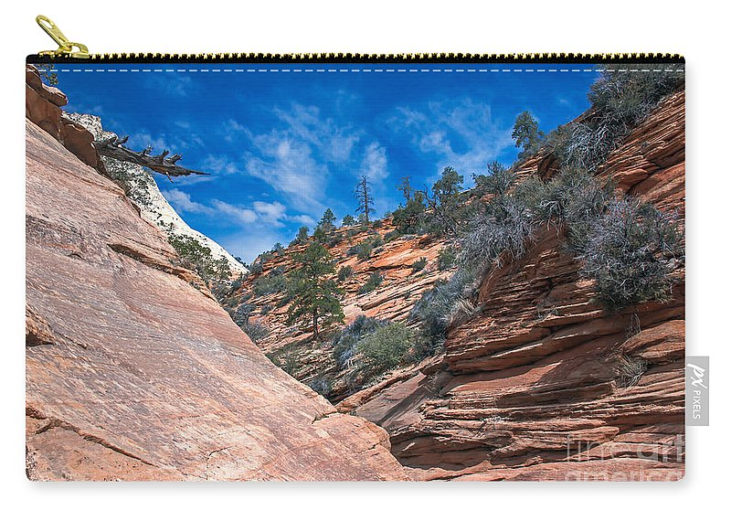 Zion National Parks Carry-all Pouch featuring the photograph Zion Beauty by Robert Bales