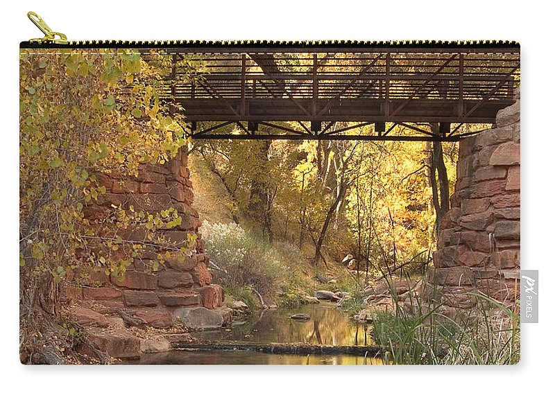 3scape Carry-all Pouch featuring the photograph Zion Bridge by Adam Romanowicz