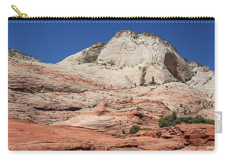 Mountains Carry-all Pouch featuring the photograph Zion Park - Rock Texture by Christiane Schulze Art And Photography