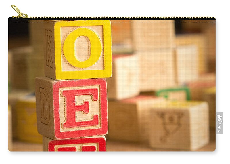 Abcs Carry-all Pouch featuring the photograph Zoey - Alphabet Blocks by Edward Fielding