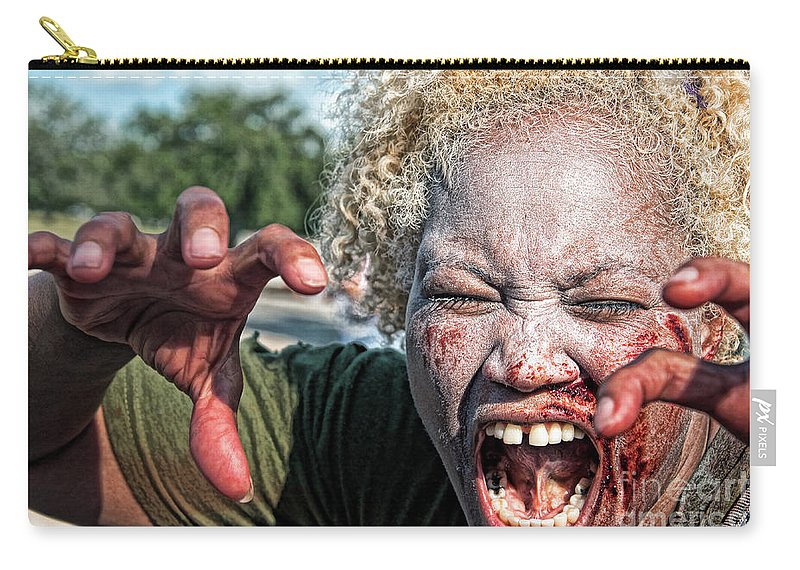 Zombie Carry-all Pouch featuring the photograph Zombie Run Nola 1 by Kathleen K Parker