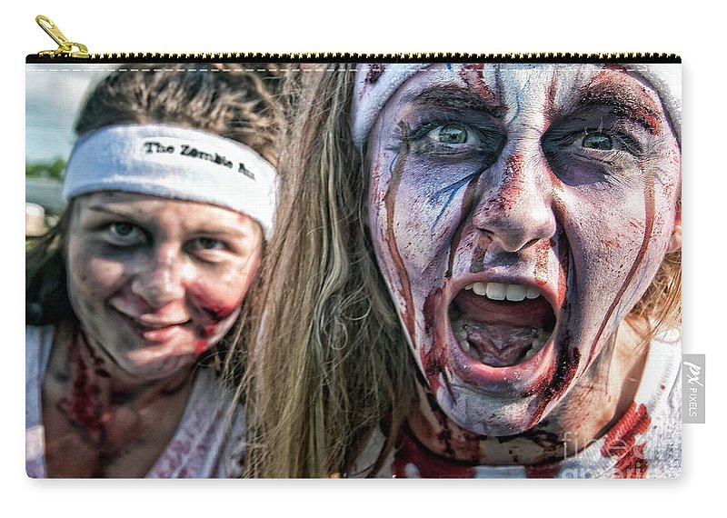 Zombie Carry-all Pouch featuring the photograph Zombie Run Nola 2 by Kathleen K Parker