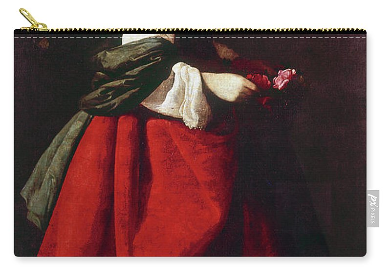 1642 Carry-all Pouch featuring the painting Zurbur�n Saint Casilda by Granger