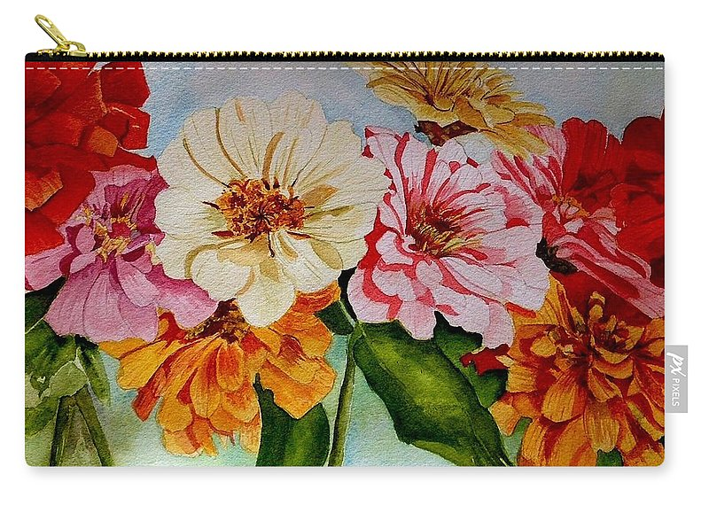 Zz Top Carry-all Pouch featuring the painting Zz Top by Nicole Curreri