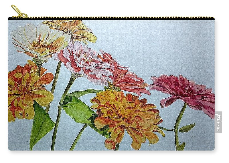 Zinnia Carry-all Pouch featuring the painting Zzzzz by Nicole Curreri