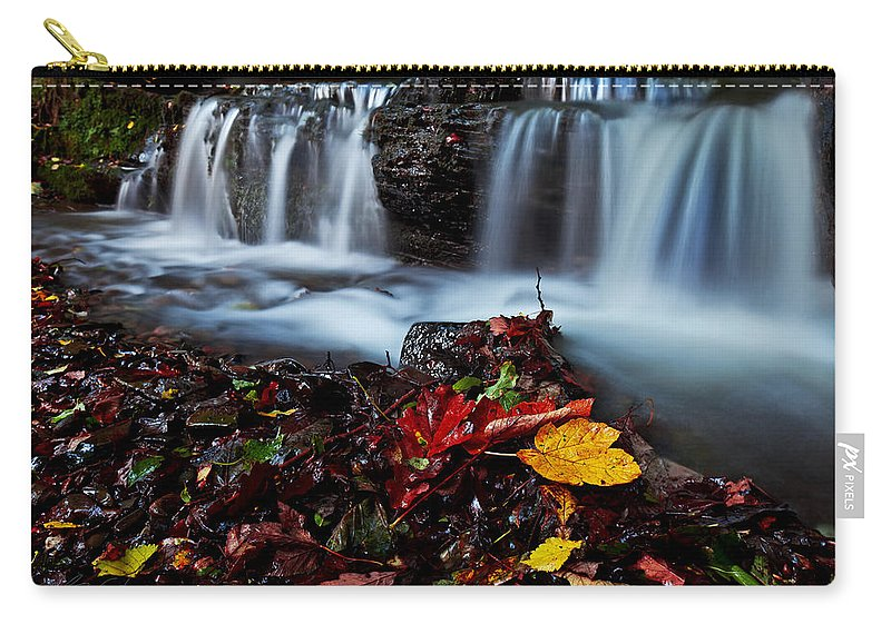 Autumn Carry-all Pouch featuring the photograph Autumnal Falls by Beverly Cash