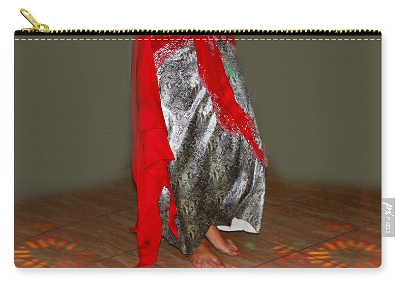 Belly Dancer Carry-all Pouch featuring the photograph Belly Dancing by Augusta Stylianou