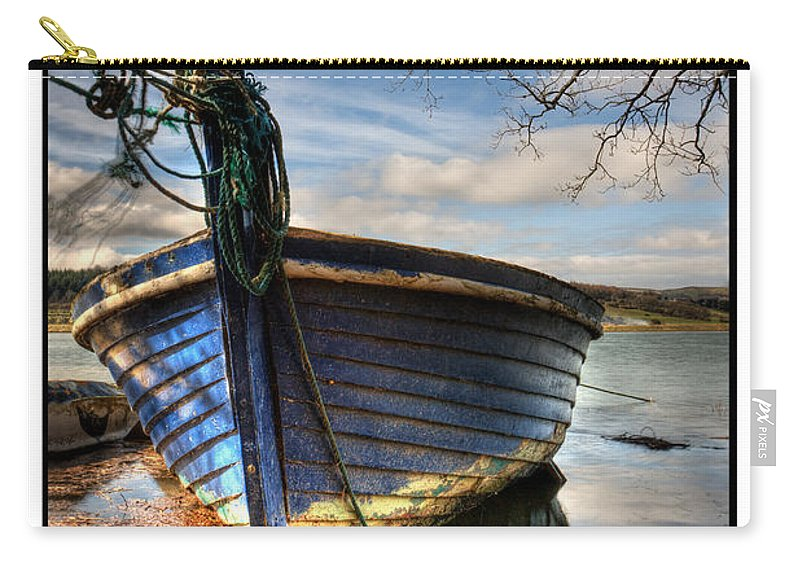 Blue Carry-all Pouch featuring the photograph Blues - Boat by Beverly Cash