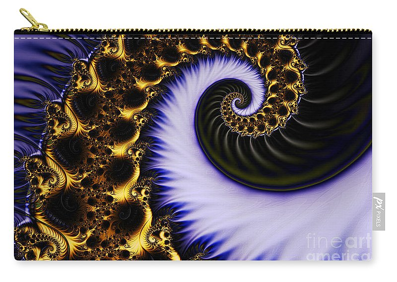 Clay Carry-all Pouch featuring the digital art Digital Wave by Clayton Bruster
