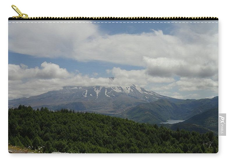 Photos Of Mt St Helens Photographs Carry-all Pouch featuring the photograph Fujiyama Of America by Christy Leigh