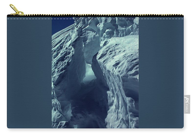 Colette Carry-all Pouch featuring the photograph  Ice Snow In Austria Mountain  by Colette V Hera Guggenheim