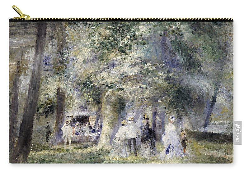 Impressionist; Impressionism; Paris; Tree; Stroll; Walk; Promenade; Male; Female; Walking; Strolling Carry-all Pouch featuring the painting In The Park At Saint-cloud by Pierre Auguste Renoir