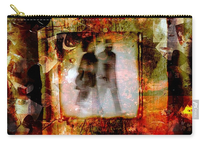 Fania Simon Carry-all Pouch featuring the mixed media Our Future by Fania Simon