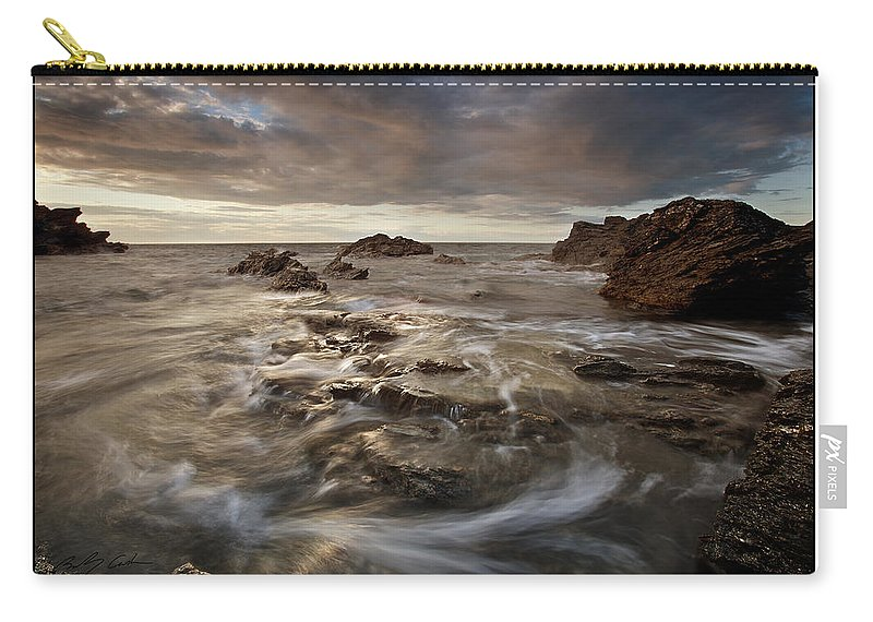 Seascape Carry-all Pouch featuring the photograph Rocky - At Trearddur Bay by Beverly Cash